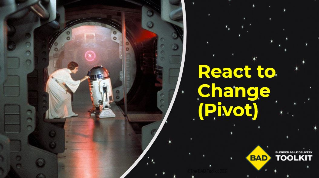 React to Change or Pivot